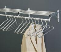 "Coat Rack with Shelf in Satin Brass Finish 24"" Wide, W60025"
