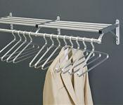 """Coat Rack with Shelf in Satin Brass Finish 36"""" Wide, W60025B"""