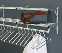 "Coat Rack with 2 Shelves and Extra Hooks 54"" Long, W60028D"