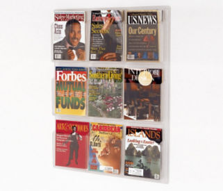 Literature Rack with 9 Magazine Pocket, D33040