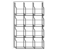 Literature Rack with 12 Magazine Pocket, D33043