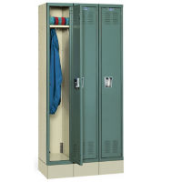 "Single Tier Lockers Assembled 12"" W x 15"" D x 72"" H, B30153"