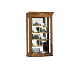 "Montreal Display Case 20'' Wide x 33"" High with Mirror Back, B34262"