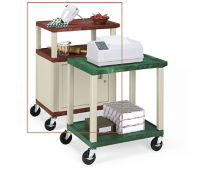"Tuffy Utility Cart with Cabinet 34"" high, D43073"