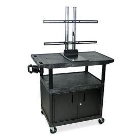 "Flat Panel Cart with Cabinet - 48""H, M13146"