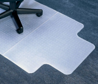 "Premium Mat with Lip for Carpeted Floors 45"" x 53"", W60592"