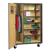 Teachers Wardrobe Cabinet on Wheels, D31151