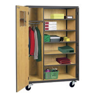 Mobile Teachers Wardrobe Cabinet , D31151