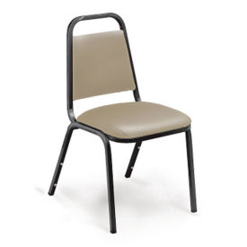 Vinyl Square-Back Stack Chair with Padded Seat, C67782