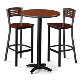 "Bar Height 30"" Table and Two Chair Set, K00037"