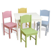 Children's Table with Four Pastel Chairs, P30217