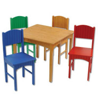 Children's Table with Four Primary Chairs, P30218