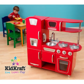 Red Vintage Kitchen, P30227