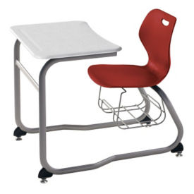 Double Entry Desk with Bookrack, C70339