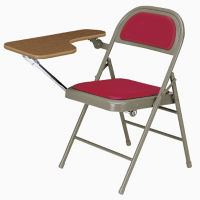 Folding Chair with Vinyl or Fabric Seat/Back and Folding Tablet Arm, C57776
