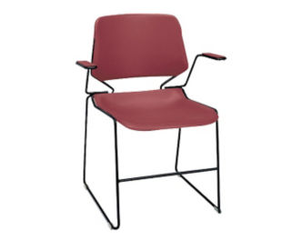 Stack Chair with Arms, C60156