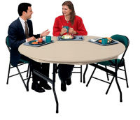 "Round Folding Table 60"" Diameter, D41509"