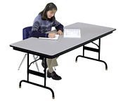 "30"" x 72"" Adjustable Height Folding Table with Honeycomb Top, D41542"