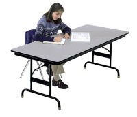 Adjustable Height Folding Table 30x96 Honeycomb Top, D41543