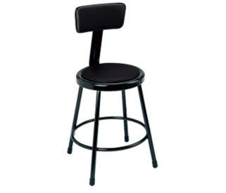 "Stool Backrest Vinyl Seat 18"", D57025"