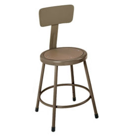 "Stool with Steel Seat and Backrest 30"" High, D57038"