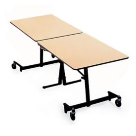 Rectangular Fold and Roll Table with Black Frame 8' Long, T10437