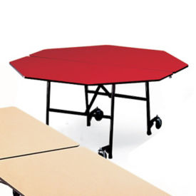 "Octagonal Fold and Roll Table with Black Frame 60"" Diameter, T10436"