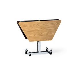 "Hexagonal Fold and Roll Table with Chrome Frame 48"" Dia, T10441"