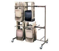 Two Tier Folding Chair Caddy, V20014