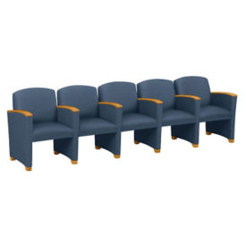 Vinyl Guest Chair with 5 Seats with Arms, W60714