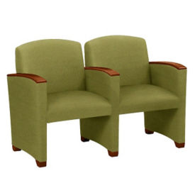 Fabric 2-Seat Guest Chair, W60717