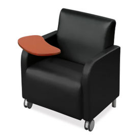 Vinyl Mobile Lounge Chair with Tablet Arm, W60695