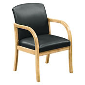 Vinyl Guest Chair with Arms, W60720
