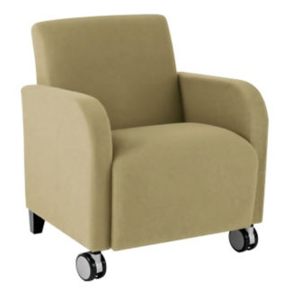 Vinyl Guest Chair with Casters, W60713