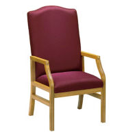 "Pulpit Chair with 44"" High Back, C30055"