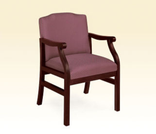 Heavy Duty Fabric Guest Chair, D53039