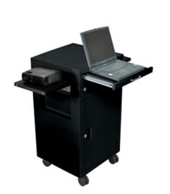 Multi Media Cart with Locking Cabinets, M10193