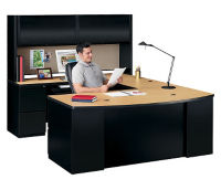 Bowfront U Desk with Hutch, D35177