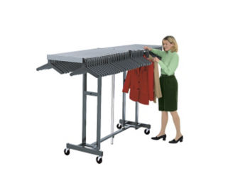 "Mobile Folding Coat Rack 25"" Wide x 96"" Long x 60"" High, D90009"