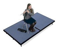 "Mobile Stage 4x8x32"" High With Gray Poly Surface, D21015"