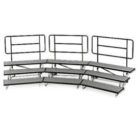 """Backrail for 48"""" Mobile Riser, D21226"""