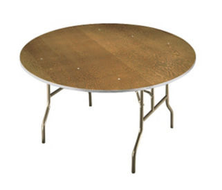 "Plywood Folding Table 66"" Round, D41176"