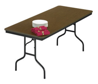"Laminate Plywood Folding Table 36"" wide x 72"" long, D41216"