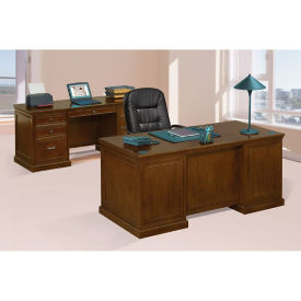 Statesman Executive Desk and Credenza Set, D35647