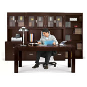 Table Desk Office Set with Bookcase, D35327