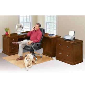 Statesman Compact Right L-Desk Set, D37535
