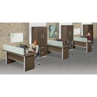 Three L-Desk Office Set, D31025