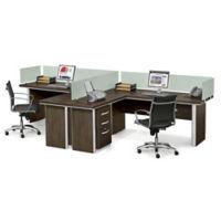 Metropolitan Two L-Desk Benching Set, D31039