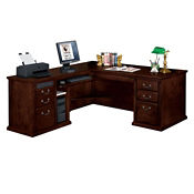 Huntington Cherry Traditional L-Desk with Left Return, D35045