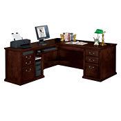 Huntington Cherry Traditional L-Desk with Left Return, D35045
